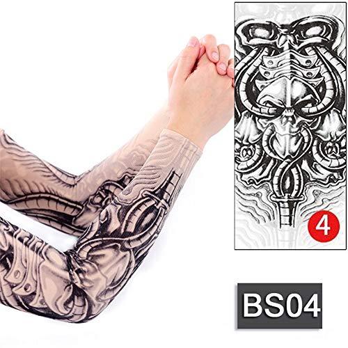 tzxdbh 3 Unids-Tatuaje Temporal Mangas Geisha Dragon Skull diseños de Tatuaje de Manga para Hombres Tatuajes Manga Ultravioleta Anti-UV Tatuaje Manga Mujer 3Pcs-
