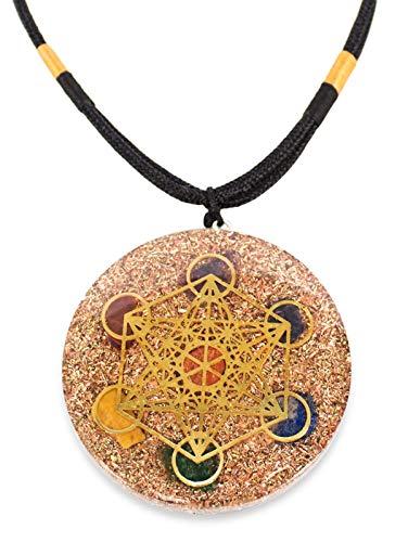 Reversible Orgonite Chakra Energy Orgone Pendant with Merkaba Web...