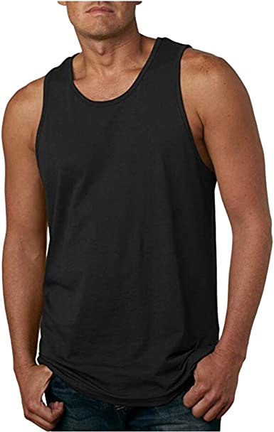 Camisetas de Tirantes Hombre,Verano Moda Hombre básica Casual Deporte Gym Camiseta sin Mangas Slim Fit Fitness Camisetas de Tirantes Color sólido Top ...
