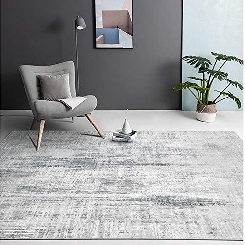 NF Alfombra de estilo moderno de color sólido antideslizante para interiores con impresión de gran tamaño, para salón, dormitorio, sofá, decoración del suelo, alfombra de 80 x 160 cm