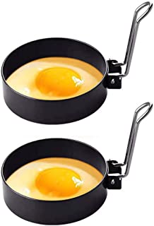 Stainless Steel Egg Ring,2 Pack Round Breakfast Household Mold Tool Cooking,Round Egg Cooker Rings For Cooking Egg Maker Molds