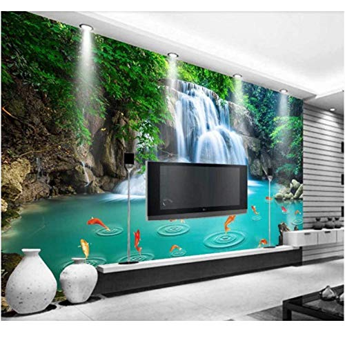 Hyllbb Froest Waterfall Wallpaper Naturaleza Mural Para Sala De Estar Papel Fotográfico 3D Papel De Pared Papel De Pared Papel De Contacto Papel De Contacto-280Cmx200Cm