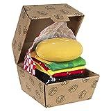 soxo Hamburger Calcetines en un paquete   35-45 EU   calcetines de algodón alegres divertidos largos  idea para regalo empaquetado