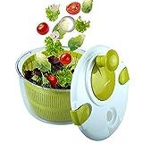 OVOS Centrifuga per Insalata Grande 5 Quarti di Frutta e Verdura essiccatore Quick Dry Design BPA Libero