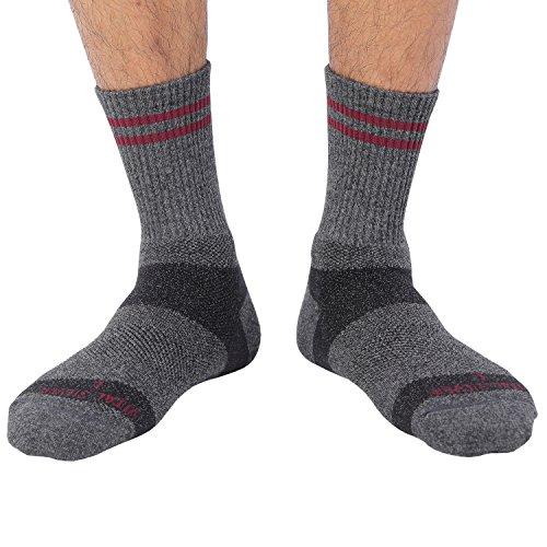 Vital Salveo- Laine mérinos randonnée Sock, Charbon de Bambou, Gris foncé