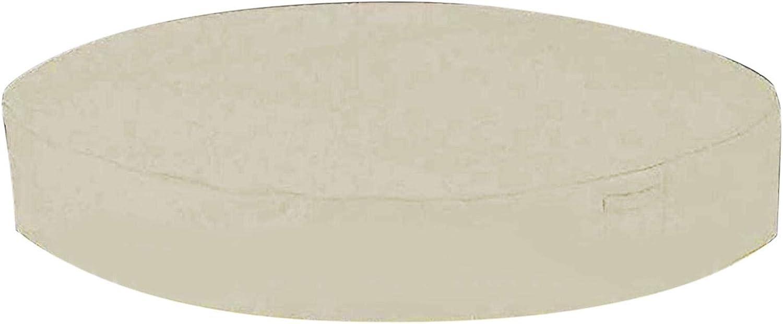 QOTSTEOS Cubierta redonda de la bañera de hidromasaje, Cubiertas anti UV al aire libre SPA, Cubierta plegable de la tina caliente a prueba de humedad, Protector impermeable de la cubierta