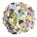 XXCKA Une Collection de 100 chanteurs étoiles européens et américains Poke Ye Day Une Soeur Bi Li Taylor Gaga téléphone Portable Casque Bagages Autocollants