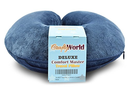Comfort Master Travel Pillow; Get Wrapped in Extreme Comfort with Firm Durable Memory Foam - Relax and Sleep Soundly while Traveling, in Office, or at Home - Offers Neck Support for Post-Op Patients