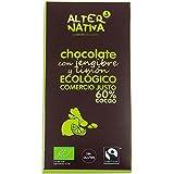 CHOCOLATE CON JENGIBRE Y LIMON 60% CACAO BIO ALTERNATIVA 3 80 grs