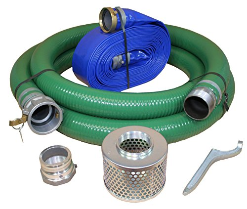 JGB Enterprises Eagle Hose PVC/Aluminum Water/Trash Pump Hose Kit, 3