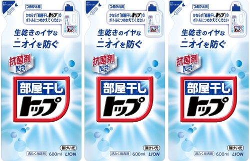 【まとめ買い】部屋干しトップ 洗濯洗剤 液体 詰め替え 600ml×3個パック