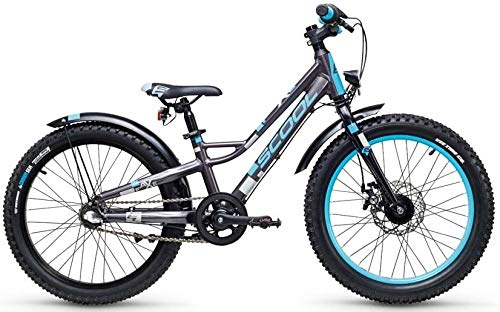 S'Cool faXe Alloy 20R 3-S Kinder Fahrrad (26cm, Darkgrey/Blue matt)
