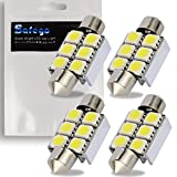 Safego 4x 36mm LED Canbus 5050 6SMD Lampadine Bianco C5W led Canbus per luci Interne Auto o Targa a LED Bulbi