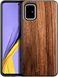 E-Began Case for Samsung Galaxy Note 10 Lite (Not Fit Note 10/Note 10 Plus), [Real Natural Walnut Wood], Dual Layer Hybrid Protective Shockproof Bumper Phone Case (Every Piece is Unique) -Wood