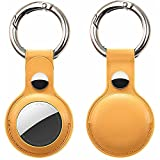 MOWIN Leather Protective Case for AirTag 2021, 2-Pack