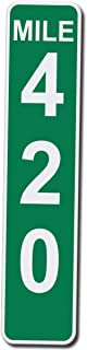 Mile Marker 420 - 17 Inches Tall by 4 Inches Wide Aluminum Sign (Quantity of 1)