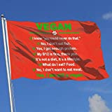 dfjdfjdjf Flagge/Fahne Vegan I Am Still A Vegan 3x5 Foot Flag Outdoor Flag 100% Single-Layer Translucent Polyester 3x5 Ft