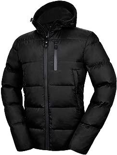 Men's Down Jacket with Hood 90% Down Coat Puffer Jacket Hooded