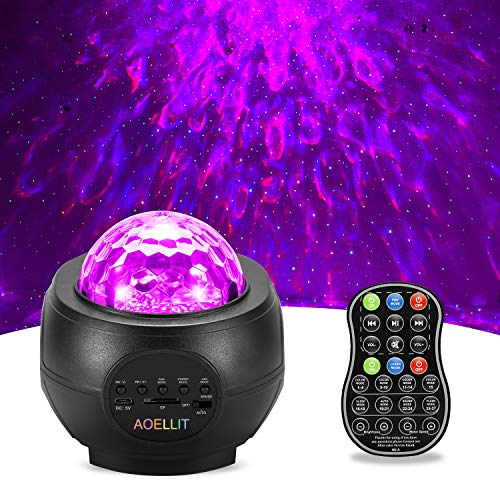 Galaxy Light Projector Star Projector Skylight for Bedroom Ceiling, LED Starlights Music Sky Light Starry Night Light Planetarium Nebula Cove Projector for Kids and Adults Black