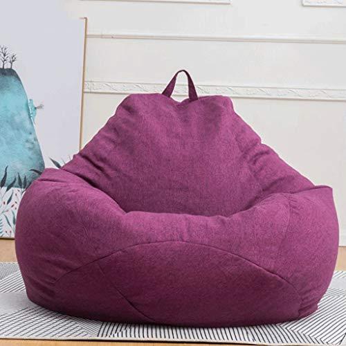 WGYDREAM Sitzsack Highbacks Beanbag Stuhl, Schlafzimmer Faule Stuhl, for Innen und Außen, for Gaming Chair und Gartenstuhl Bean Bag (Color : Purple, Size : 80 * 90cm)