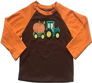 Halloween T-Shirts Baby Boy Girl Truck Pumpkin Print Long Sleeve Raglan Thanksgiving Shirts Baseball Tops