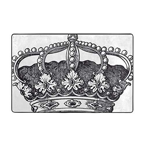 MAYUES Alfombra de baño,Antiguo Royal Crown Kingdom Emperador Gobernante Zar Símbolo Monarquía...