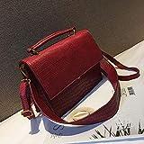 Artesanía exquisita Bolso de mano de las mujeres del totalizador femenino grande del hombro bolsas de mensajero bolso de cuero de la PU bolsa de mensajero del hombro ( Colore : Red , Size : M )