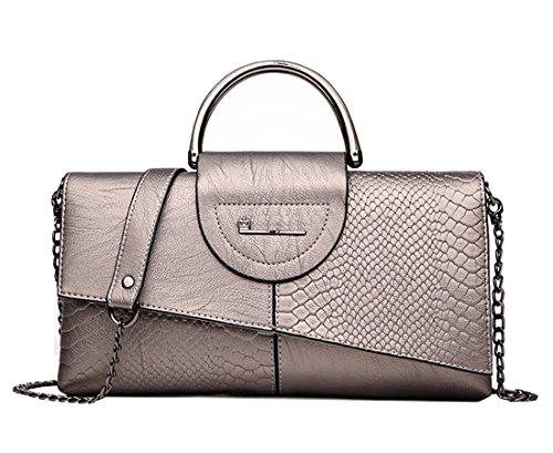 KELUOSI Clutch Abendtasche Lange Kupplung Damen Handtaschen Umhängetaschen Bronze