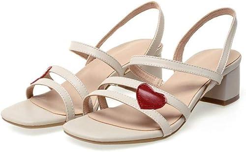 Sandales pour Femmes Summer Fashion Sandales à Talons carrés carrés Polyvalents  meilleure offre