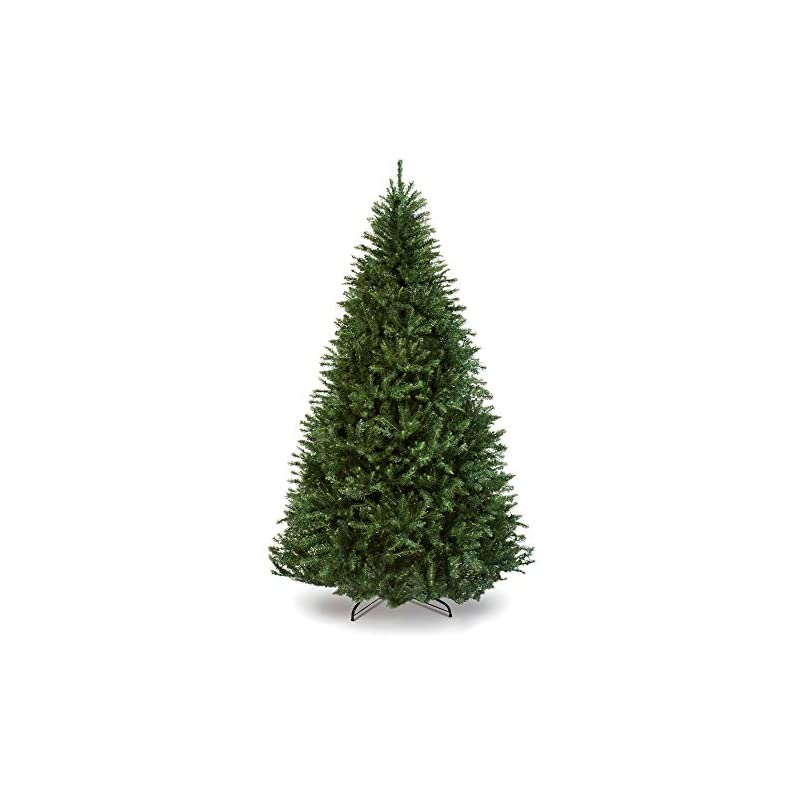 silk flower arrangements best choice products 7.5ft hinged douglas full fir artificial christmas tree holiday decoration w/ 2,254 branch tips, easy assembly, foldable metal stand, green
