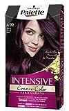 Schwarzkopf Palette Intensive Creme Color - Tono 4.99 cabello Violín - Coloración Permanente de Cuidado con Aceite de Marula – Óptima cobertura de canas – Color duradero hasta 8 semanas