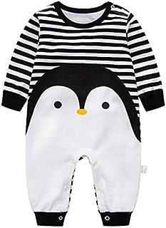 a0b4064c7700c Vine Pyjama Bébé Fille Garçon Grenouillère Combinaisons en Coton Bouton à  Manches Longues Chaud Pyjama Déguisement
