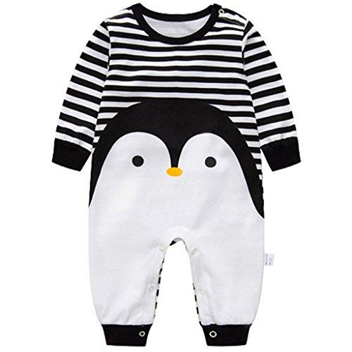 Recién nacido Pijama Algodón Mameluco Niñas Niños Peleles Sleepsuit Caricatura Trajes, 0-3...