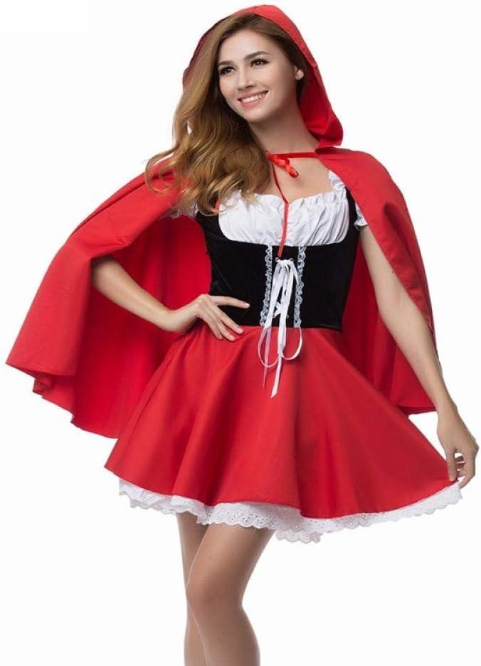 Ropa De Dormir Para Mujer Disfraz De Caperucita Roja Fancy Adult Hallowen Dressing Fantasia Feminina Disfraces De Navidad Tallas Grandes 6xl Amazon Es Ropa Y Accesorios