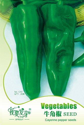 Originales Paquet Fruits et légumes graines supplémentaires grosses graines corne de poivre redpepper gros 30 pcs / sac