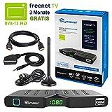 HB DIGITAL DVB-T/T2 Set: Skymaster DTR5000 DVB-T/T2 Receiver, kartenloses freenet TV...