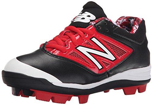 New Balance Kid's J4040V3 Youth Baseball Shoe, Black/White