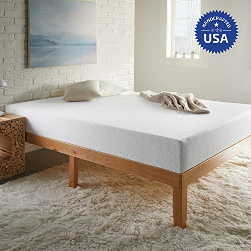 Early Bird Essentials 10-Inch Memory Foam Mattress, Comfort Body Support, Bed in Box, Medium, Sleeps Cool, No Harmful Chemicals, Handcrafted in The USA, Queen