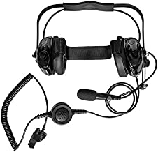 Maxtop AHDH0032-BK-M7 Two Way Radio Noise Cancelling Headset for Motorola HT-1000 MT2000 MT2100 MT6000 MTS2000 XTS2500