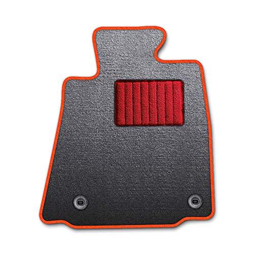 DAD ギャルソン D.A.D エグゼクティブ フロアマット TOYOTA (トヨタ) TANK/ROOMY タンク/ルーミー M900A/910A 年式H28/11〜 1台分 エレガントデザイングレー/オーバーロック(ふちどり)カラー : オレンジ/刺繍