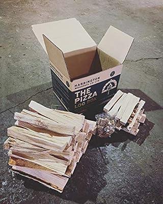 """9 kg Box of Kiln-Dried Hardwood Medium Pizza logs (10"""" x 2"""") with 16 x Biomass Firelighters + Kindling by Harrington Woodfuel Co.Ltd"""
