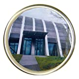 PC3721 Posavasos redondos de acrílico transparentes en blanco con inserto de diámetro de 90 mm G1503 (5 piezas)