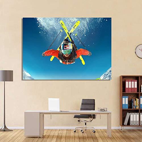 zzlfn3lv Marco de Lona Grande Moda 1 Panel Buzo Imprimir Imagen Modular Pintura Dormitorio Sala de Estar hogar Arte de la Pared decoración - Sin Marco