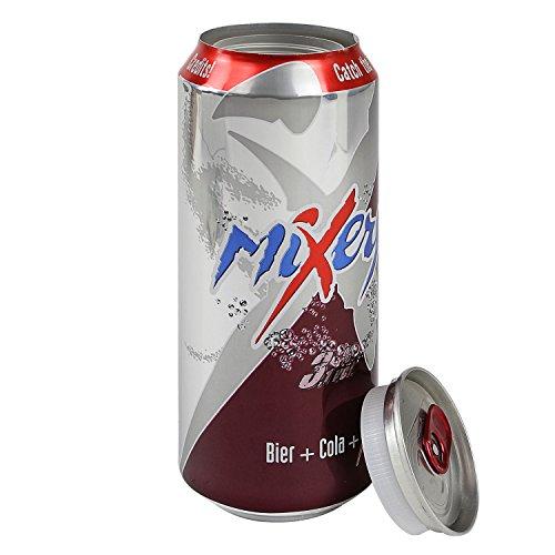 Dosentresor Dosensafe Geldversteck im Design einer Mixery Bier + Cola + X Getränkedose, 16 x 6,5 cm