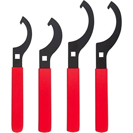 Kei Project Universal Coilover Adjustment Spanner Wrench Set, 4 Pc. Tool Kit for Suspension System and Shock Adjustments, Small, Medium, and Large Spanners