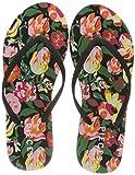 PIECES Psnala Flower Flip Flop Sww, Infradito Donna, Nero, 36 EU