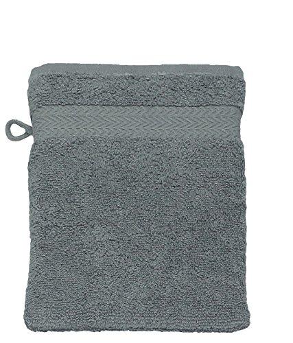 Betz Gant de Toilette pour Visage Corps Gant de Toilette Taille 16x21 cm 100% Coton Premium Couleur Gris Anthracite