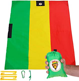 KESYKAT Pocket Blanket Outdoor Picnic, Large Beach Blanket Sand Proof Waterproof, Compact Resistant Ultralight Mat for Travel, Camping, Hiking, Festivals Gear or Stadium Pocket Blanket for 4-6 People