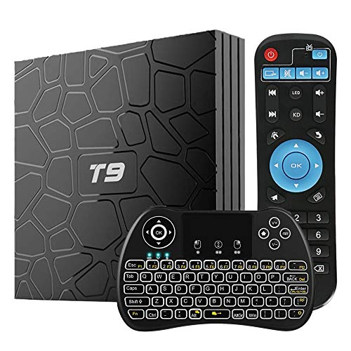 WISEWO Android 8.1 TV Box 4GB RAM 64GB ROM, [2019 Updated] Android Boxes Quad Core/ 64 Bits/ BT4.1/ H.265/ 3D UHD 6K Smart Media Player with Backlit Mini Wireless Keyboard