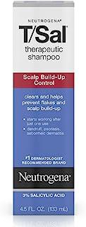 Neutrogena T/Sal Therapeutic Shampoo, Scalp Build-Up Control 4.5 oz (Pack of 5)